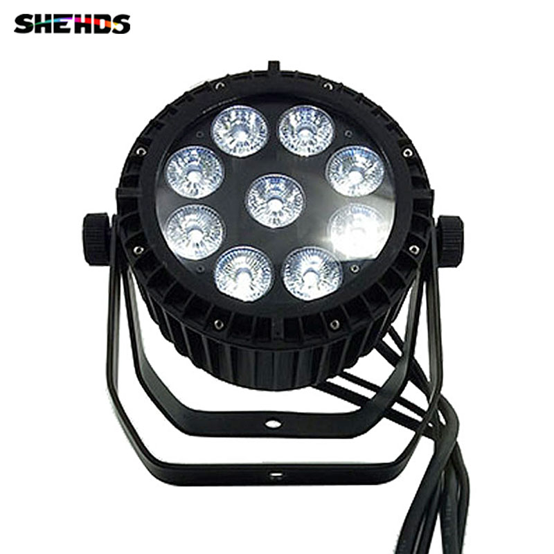 4PCS Waterproof LED Par 9x18W LED DJ Disco Light Theater Wash Light Outdoor RGBWA+UV 6in1 Stage Lighting Led Waterproof For Pool