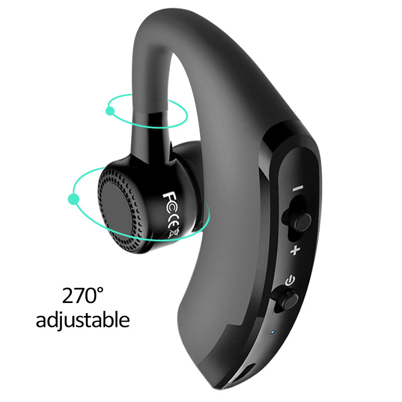 Business Bluetooth Headset Earphone With Mic Handsfree Call For Sports Car Driver Adjustable for iPhone 6 6s Samsung Xiaomi remax 2 in1 mini bluetooth 4 0 headphones usb car charger dock wireless car headset bluetooth earphone for iphone 7 6s android