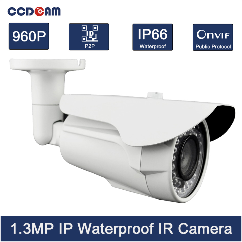 CCDCAM Full HD 1.3MP CCTV Cameras IR Night Vision Onvif P2P 960P IP Camera Outdoor 4pcs 960p hd cameras