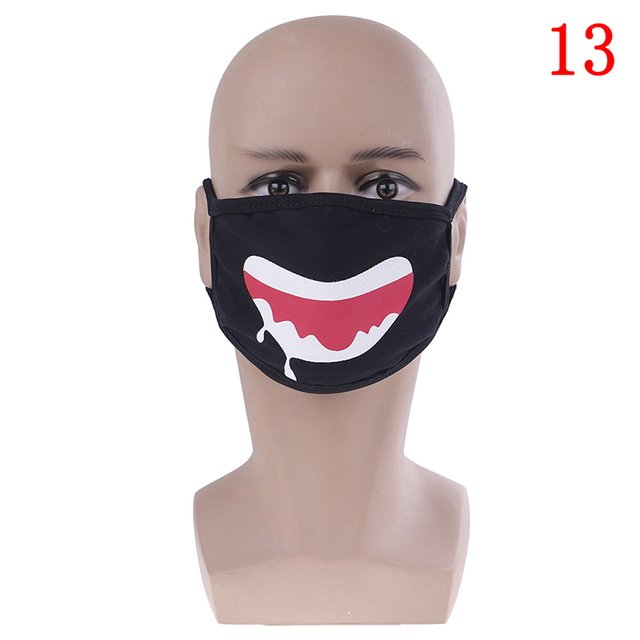 22Style Unisex Kpop Kawaii Anti Dust Mask Cotton Mouth Mask Cute Anime Cartoon Mouth Muffle Face Mask Emoticon Masque Masks 5