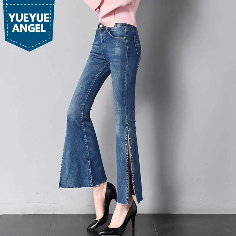 New Fashion 2019 Spring Summer Women's Jeans Slim Fit Jean Ankle-Length Pantalon Femme Stretchy high Waist Jeans Female