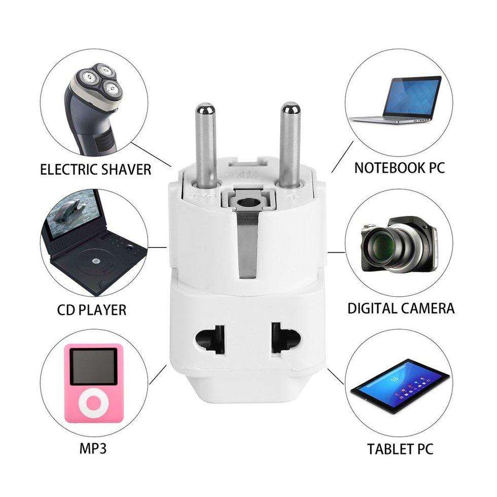 10PCS EU Standard Power Plug Adapter Travel Converter Australia UK USA EU Converter