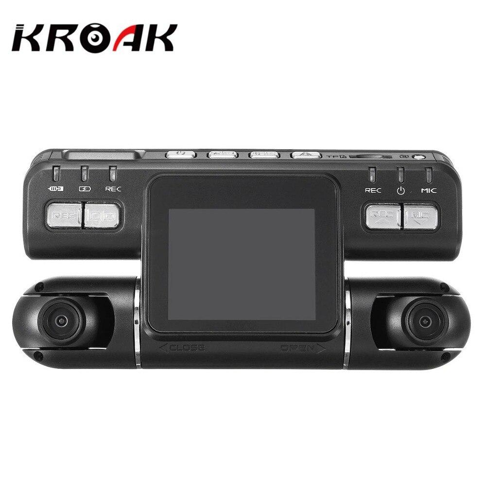 Двумя объективами полный высокой четкости 1080p Автомобильный видеорегистратор камеры G-сенсор автомобильный видеорегистратор 360 широкий угол рекордер Поддержка GPS Регистратор тире CAM микрофон динамик