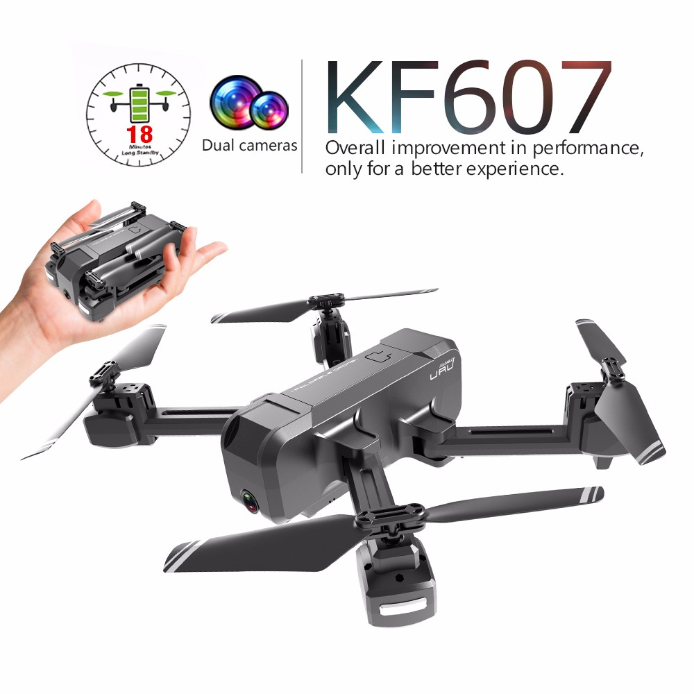Drone KF607 WIFI FPV RC drone 4K kamera ultra HD dual kamera drohne headless modus one touch landung quadcopter drohne mit kamera - 2