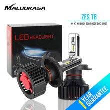 MALUOKASA T8 H4 автомобиля светодиодный лампы 60 Вт 8000LM зэс чипы все в одном H4 Высокая Низкая луч авто фары противотуманные лампы 6500 К 12 В 24 В