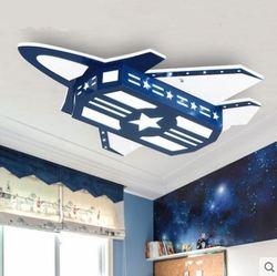 W stylu śródziemnomorskim pokój dziecięcy sufitu lampy światła kreatywny cartoon art chłopiec sypialnia samolot lampa sufitowa w Oświetlenie sufitowe od Lampy i oświetlenie na