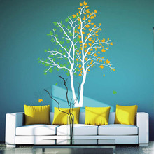 Room Decoration Large Tree Home Sticker Vinyl Art Removeable Poster Beauty Leaves Ornament Modern Fashion Mural LY544 цена