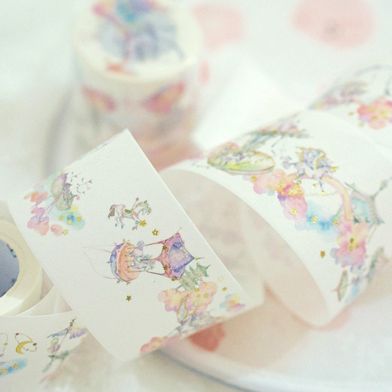 4 cm Wide Unicorn Fairyland Special Ink Washi Tape Adhesive Tape DIY Scrapbooking Sticker Label Masking Tape 6j217 224 1 5cm wide classical chinese ink painting washi tape adhesive tape diy scrapbooking sticker label masking tape