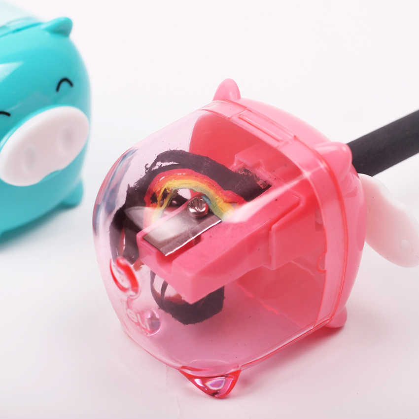 1PC Cute Kawaii Animal Pig Sweet Candy Colored Plastic Pencil Sharpener Korean for Kids School Supplies Stationery