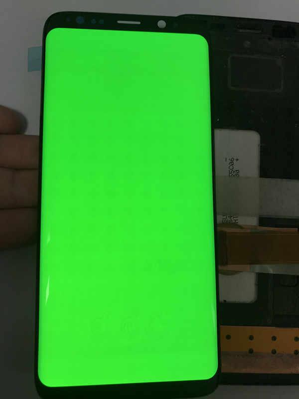 سوبر AMOLED لسامسونج غالاكسي S8 G950F G950U G950FD Lcd مع الإطار عرض محول الأرقام بشاشة تعمل بلمس حرق في الظل lcd