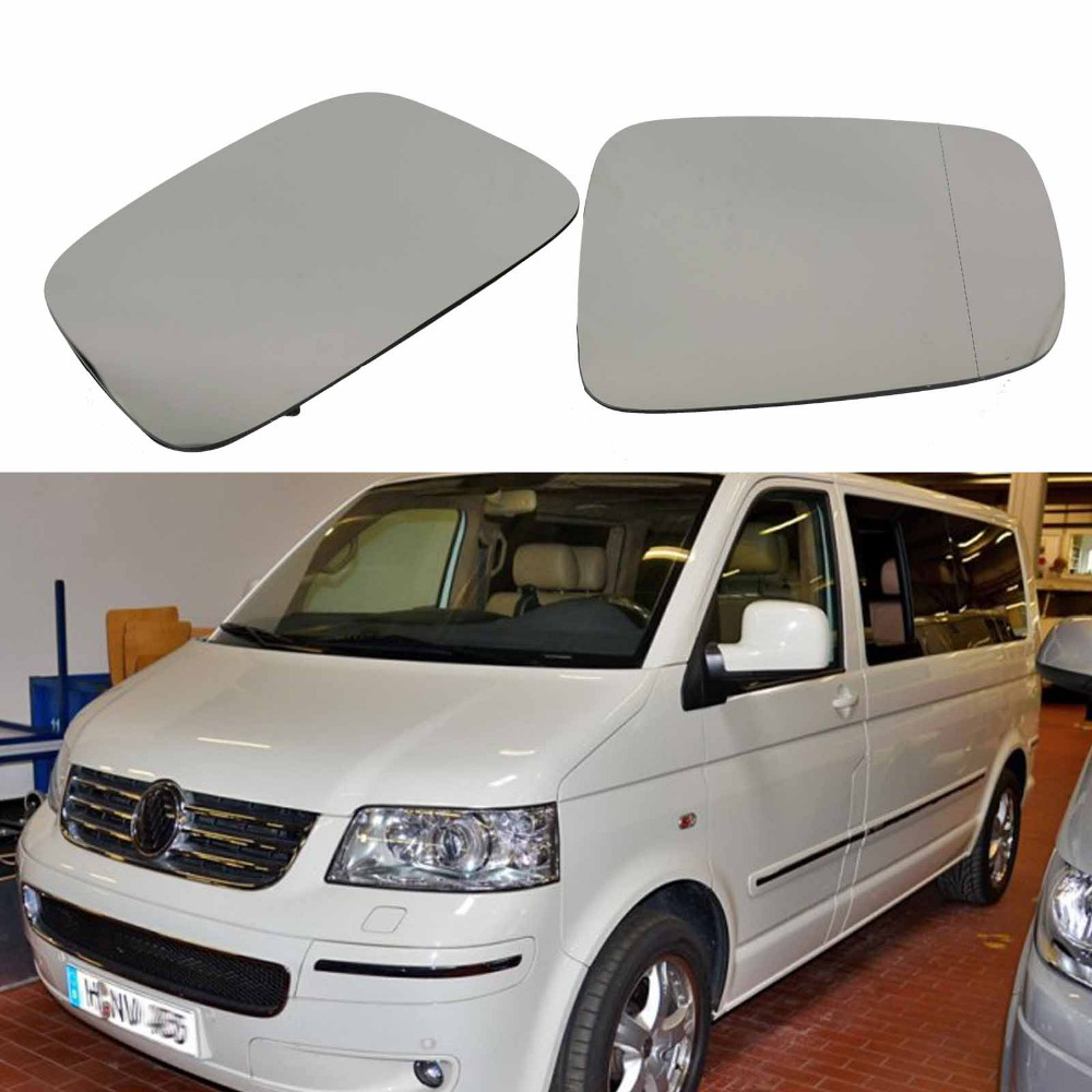 2Pcs For <font><b>VW</b></font> Transporter <font><b>T5</b></font> <font><b>Multivan</b></font> 2003 2004 2005 2006 2007 2008 2009 2010 Heated Wing Side Rear Mirror Glass image