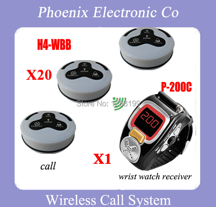 Wrist Watch Pager Restaurant Coffee Bar Wireless Call Calling System Waiter Service Paging System,DHL FREE Shipping 1 watch receiver 8 call button 433mhz wireless calling paging system guest service pager restaurant equipments f3258