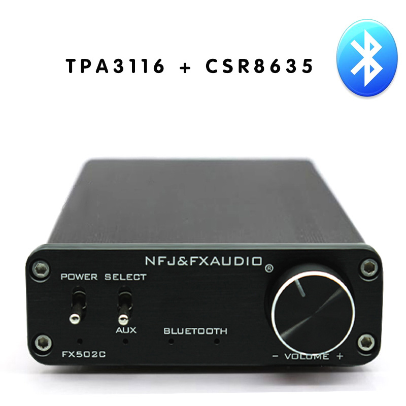 FX502C CSR8635 Bluetooth 4.0 HIFI Audio Digital Power Amplifier TPA3116 2.0 channel 50W*2 aiyima amplifiers audio tpa3116 2 0 amplificador high power hifi digital amplifier board bluetooth v4 0 csr8635 bluetooth chip