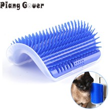 Corner Pet Brush Comb Play Cat Toy Plastic Scratch Bristles Arch Massager Self Grooming Cat Scratcher(China)