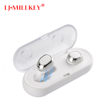 TWS Bluetooth Earphone Earbuds Control Hifi Stereo Wireless MIC for Phone With Charger Charging Box Mini LJ-MILLKEY YZ123