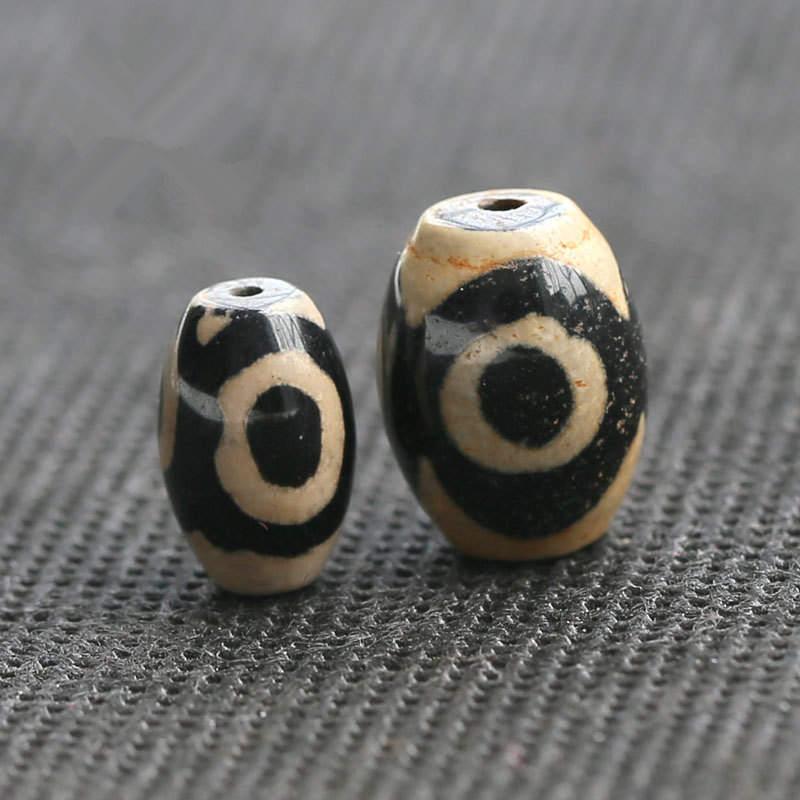 TSB0129 Тибет 3 глаза бусины дзи Тибетский антикварный Сердолик дзи 50 бусин Лот