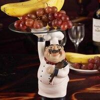 Европейские украшения смолы фрукты шеф повар махнул ресторан кафе бар украшения гостиной Творческий Фрукты