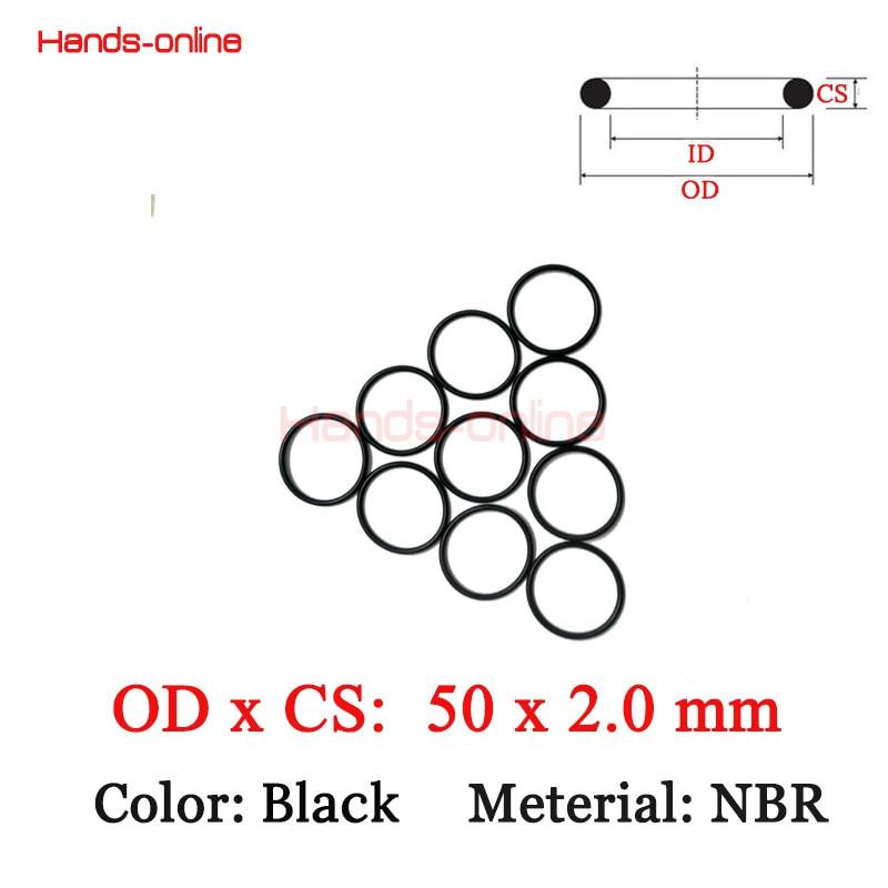 10pcs/lot 50x46x2 mm O-rings O Ring NBR Rubber sealing o-ring 50mm OD x  2mm CS free shipping 10pcs nbr rubber metric o ring section 1 24mm x select 3 86 12 9 mm o ring seal sealing gasket mechanical seal