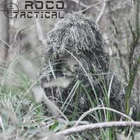 ROCOTACTICAL Traspirante Sniper Ghillie Cappuccio Camouflage Copertura Della Testa per Ghillie Suit Zanzariera Cappuccio Headvie Ghillie Viper Cofano