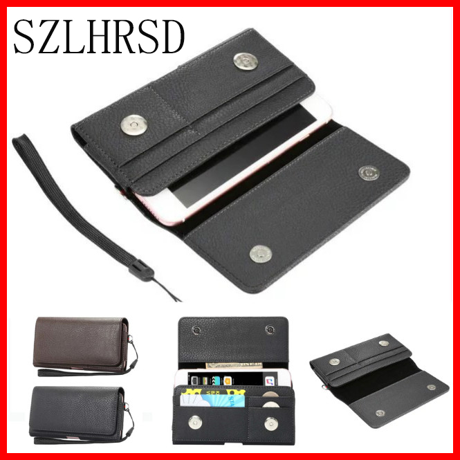 Men Belt Clip Leather Pouch Waist Bag Phone Cover For Blackview BV7000 Pro /E7S /BV5000/ A8 Phone Cases Cell Phone Accessory