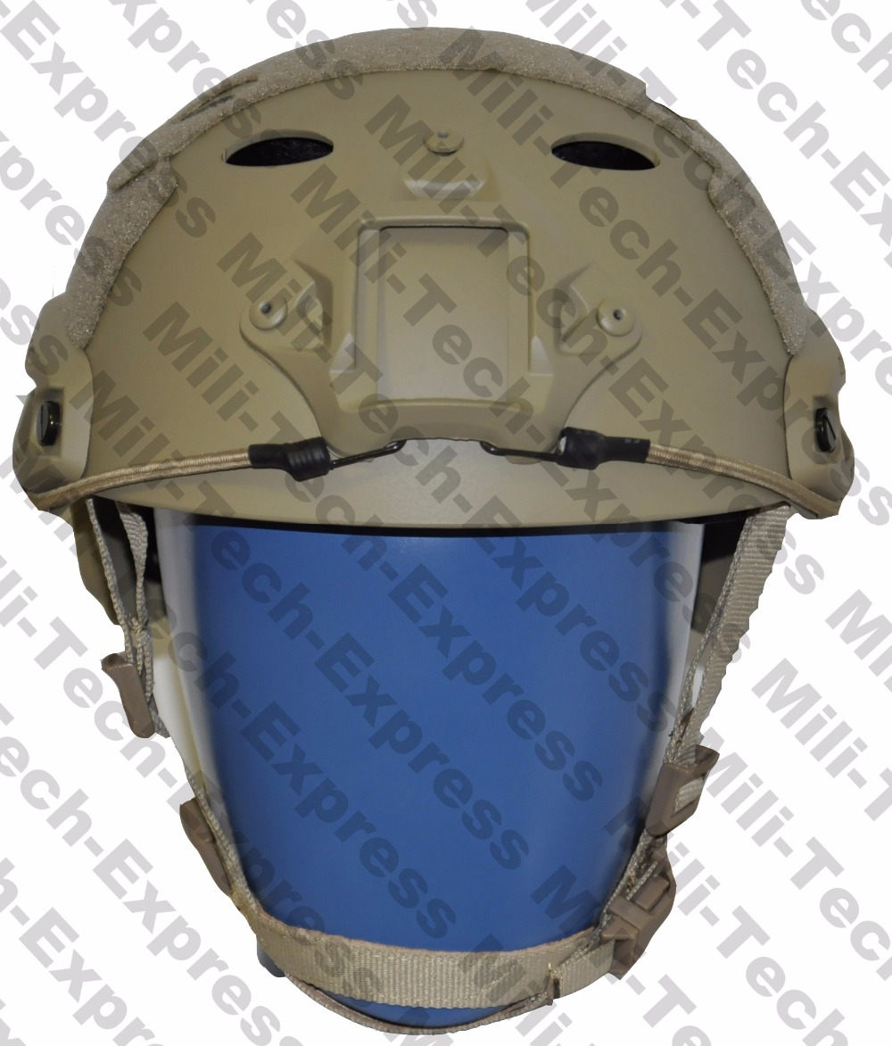 FAST TAN PJ Carbon Style Vented Airsoft Tactical Helmet / Ops Core Style High Cut Training Helmet / FAST Ballistic Style Helmet. fast aor1 pj carbon style vented airsoft tactical helmet ops core style high cut training helmet fast ballistic style helmet