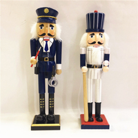 H01 X040 Best Christmas Valentine's Day birthday gift home decoration 38cm Nutcracker Policemen Baseball player