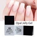 BORN PRETTY Opal Jelly Gel White Soak Off Gel Polish Manicure Nail Art UV Gel Varnish