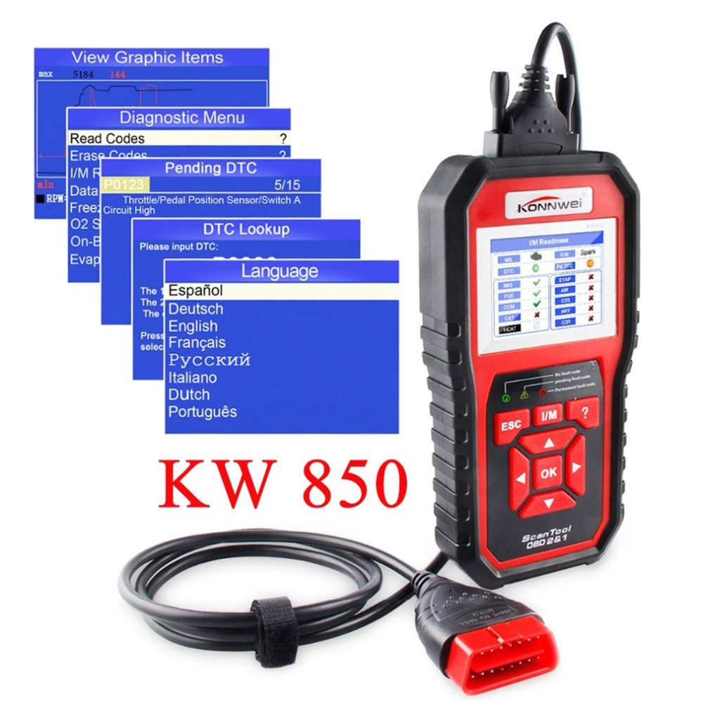 Auto ODBII EOBD Car Engine Fault Code Reader Diagnostic Reset Tool Support 8 Countries Languages Vehicle Diagnostic Device idoing special tpms newest technology car tire diagnostic tool with mini inner sensor auto support bar and psi