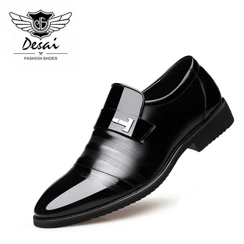DESAI Brand 2019 Spring New Shoes Men Leather Shoes Business Dress Casual Men s Shoes Tip