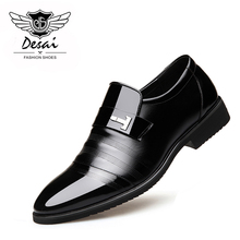 DESAI Brand 2018 Spring New Shoes Men Leather Shoes Business Dress Casual Men's Shoes Tip Wedding Formal Shoes