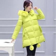 2016 Winter Jacket Women Fashion Hooded Wadded Clothing Female Fur Women's Parkas & Coat Korean Version Slim Padded Jacket 72204