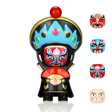 Anime Figure Action Fun Novelty 4 Faces Peaking Opera DIY Toys Ornaments Gift BeiJing Traditional Facechanging Doll