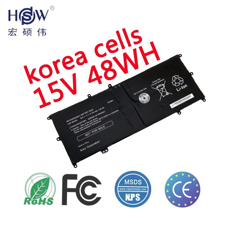цена HSW 15V 48WH VGP-BPS40 Laptop Battery for SONY Flip SVF 15A SVF15N17CXB 14A SVF14N SVF14NA1UL UltraBook BPS40