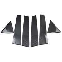 QHCP 6Pcs/Set Window Pillar Sticker Carbon Fiber Protection Film Pillar Sticker Trim For LEXUS NX200 300 200T 300H Car Styling