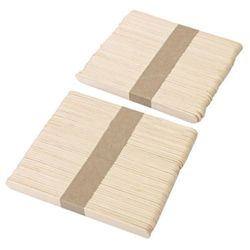 Shellhard 100x Disposable Waxing Wooden Body Hair Removal Stick Tongue Depressor 114mm x 10mm x 2mm