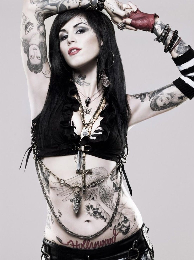 Tattoo Girl Von - Kat von d hot beautiful girl tattoo silk poster art bedroom decoration 2672 china