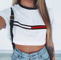 2017 Summer Style Women Short Tops Charging Mode Printed Crop Tops Sexy Comfortable Simple Tank Tops