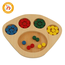 Baby Toy Montessori Distinguish Colors Children Learning Sorting Tray Kids