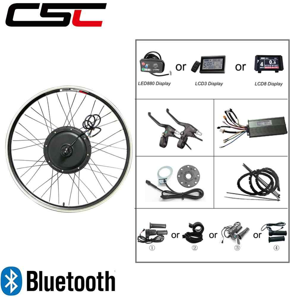 Electric bike Conversion Kit Bluetooth regeneration 48V 500W 1000W 1500W 20-29inch 700C EBike Bicycle Front Rear Motor Wheel