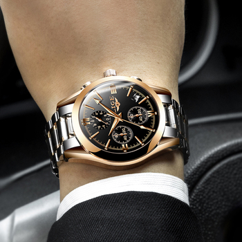 LIGE Men's Luxury Waterproof Chronograph Calendar Date Male Quartz Watches 4