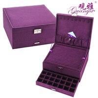 여왕 스타일 4 색 고급 실용적인 플란넬 보석 상자 패션 보석 디스플레이