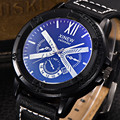 XINEW Fashion Stainless Steel Dial Watch Men Leather Men's Clock PU Leather Date Military Sport Analog Quartz Wrist Watch