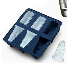 New Arrival Food Grade Doctor Who Dalek & Tardis Ice Tray 14*15cm  Candy Jello Chocolate Mold Kitchen Tool F3