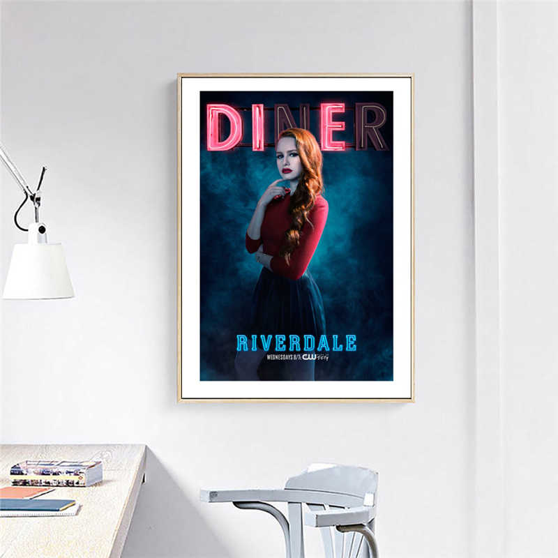 Riverdale Season 2 Diner Cheryl Blossom Promotional Portrait Art Canvas Poster Painting Wall Picture Print Home Bedroom Decor HD