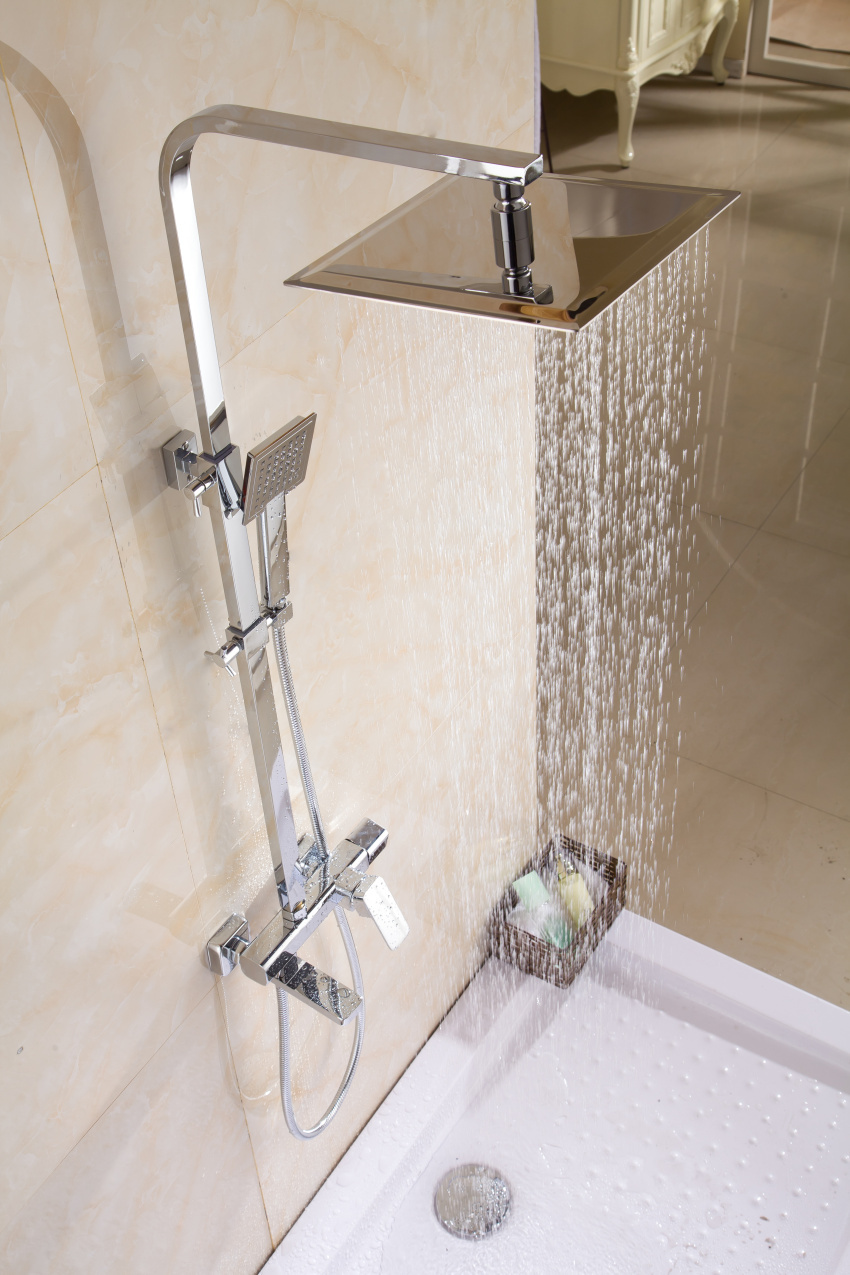 Luxury New style brass square shower set lanos kpah bathroom shower ...