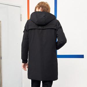 Image 3 - Пионерский лагерь водонепроницаемый материал толстый пуховик зимняя куртка брендовая мужская одежда мода с капюшоном теплая утка пуховик мужской AYR705314