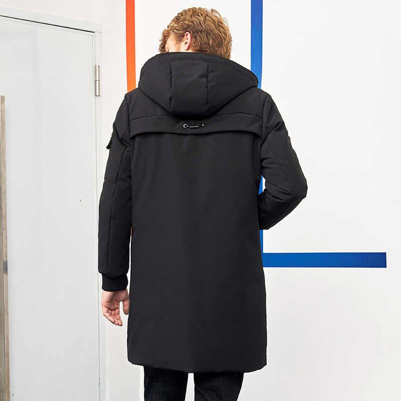 Пионерский лагерь водонепроницаемый материал толстый пуховик зимняя куртка брендовая мужская одежда мода с капюшоном теплая утка пуховик мужской AYR705314