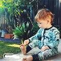 Diseño de marca Baby Boy Traje Mameluco 2016 Primavera Kids Boutique Trajes Juegos de los Bebés de Algodón acolchado Trajes de Bebé Marinero traje