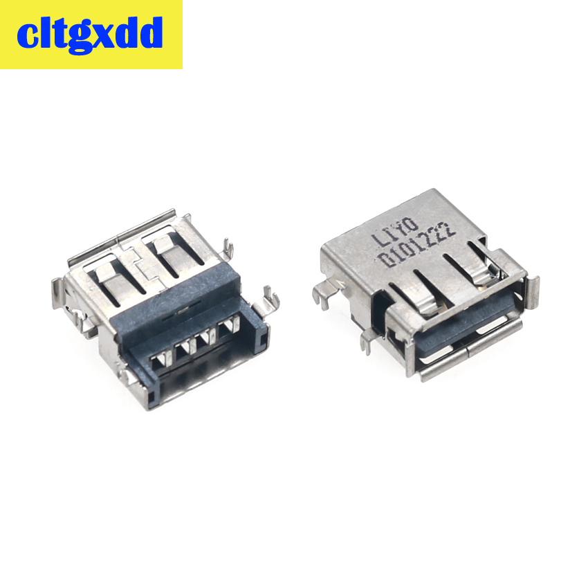 Cltgxdd 2-10pcs USB 2.0 Jack For Lenovo G450 G455 Z465 Z560 Z565 G530 G560 G565 N500 G460AX G460LX G460EX USB Port Connector