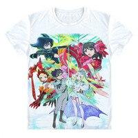애니메이션 히나 로직 중국에서 행운 & 로직 T 셔츠 새로운 일본어 TV 애니메이션 티셔츠 홋카이도 학교 마모 만화
